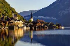 Salida del sol en montañas austríacas Imágenes de archivo libres de regalías