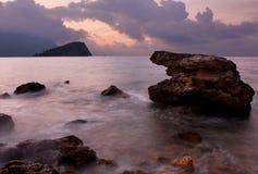 Salida del sol en Montenegro Imágenes de archivo libres de regalías