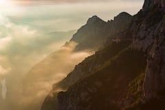 Salida del sol en Montserrat, Barcelona - España Fotografía de archivo libre de regalías