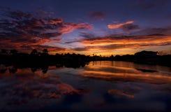 Salida del sol en Nápoles, la Florida fotografía de archivo