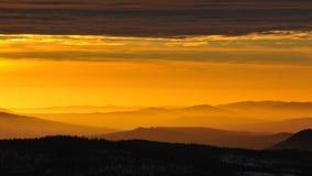 Salida del sol en Noruega Fotos de archivo