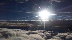 Salida del sol en nube Foto de archivo