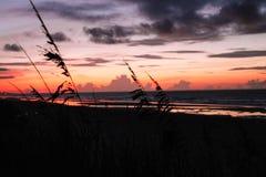 Salida del sol en Océano Atlántico Fotografía de archivo