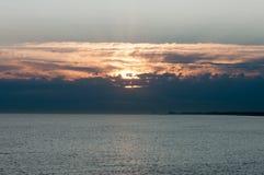 Salida del sol en Ostende Imagen de archivo