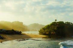 Salida del sol en paraíso Foto de archivo libre de regalías