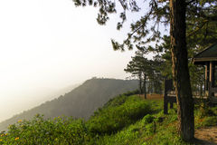 Salida del sol en Phurua Imagen de archivo libre de regalías