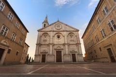 Salida del sol en Pienza, Toscana Imagen de archivo