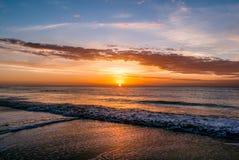 Salida del sol en Pinamar Fotografía de archivo libre de regalías