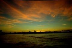 Salida del sol en Port Vila Fotografía de archivo libre de regalías