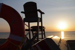 Salida del sol en Racine Foto de archivo