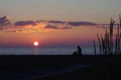 Salida del sol en Racine Foto de archivo libre de regalías