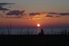 Salida del sol en Racine Fotos de archivo