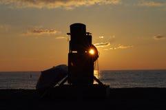 Salida del sol en Racine Fotografía de archivo libre de regalías