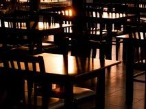 Salida del sol en restaurante Fotografía de archivo libre de regalías