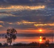 Salida del sol en Rietvlei imágenes de archivo libres de regalías