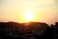 Salida del sol en Rio de Janeiro de Barra Fotos de archivo