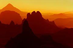 Salida del sol en Sahara Desert Imágenes de archivo libres de regalías