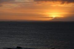 Salida del sol en Salthill, Galway Imagen de archivo