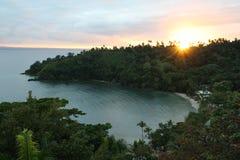 Salida del sol en Samana Imagen de archivo libre de regalías