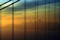 Salida del sol de San Francisco Foto de archivo libre de regalías