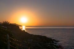 Salida del sol en Sanremo, Italia Foto de archivo libre de regalías