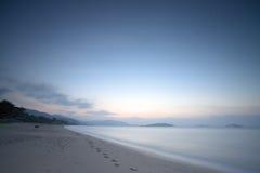 Salida del sol en Sanya Foto de archivo libre de regalías