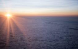 Salida del sol en septiembre de 2017 en el sur de Rusia Foto de archivo libre de regalías