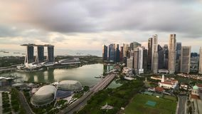 Salida del sol en Singapur almacen de metraje de vídeo