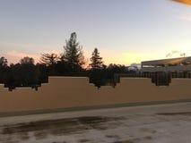 Salida del sol en Stanford en la primavera imagen de archivo