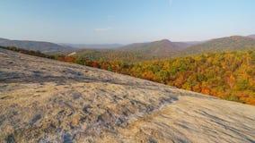 Salida del sol en Stone Mountain Foto de archivo libre de regalías