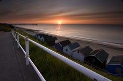 Salida del sol en Suffolk Imagen de archivo