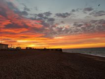 Salida del sol en Sussex imagen de archivo