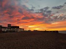 Salida del sol en Sussex foto de archivo libre de regalías