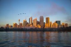 Salida del sol en Sydney, Australia Foto de archivo libre de regalías