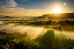 Salida del sol en Taiwán Imágenes de archivo libres de regalías