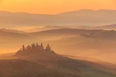 Salida del sol en Toscana Imagenes de archivo