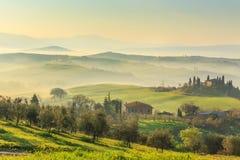 Salida del sol en Toscana Foto de archivo