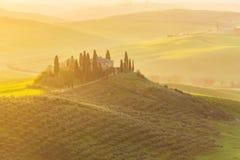 Salida del sol en Toscana Fotos de archivo