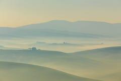 Salida del sol en Toscana Fotografía de archivo libre de regalías