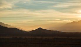Salida del sol en Tsedang, Tíbet Fotos de archivo libres de regalías
