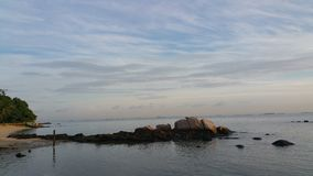 Salida del sol en Turi Beach Resort imagen de archivo libre de regalías