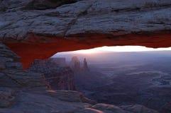 Salida del sol en Utah Imágenes de archivo libres de regalías