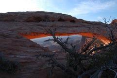 Salida del sol en Utah Fotografía de archivo