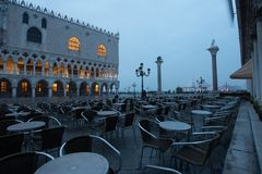 Salida del sol en Venecia Foto de archivo libre de regalías