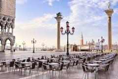 Salida del sol en Venecia imagenes de archivo