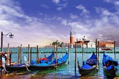 Salida del sol en Venecia Imagen de archivo libre de regalías