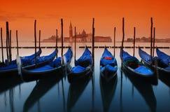 Salida del sol en Venecia Fotografía de archivo libre de regalías