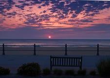 Salida del sol en Virginia Beach Imagen de archivo