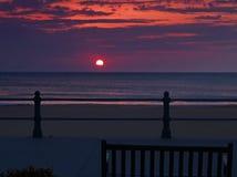 Salida del sol en Virginia Beach imagen de archivo libre de regalías