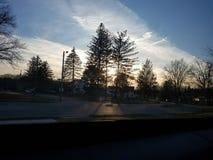 Salida del sol en Youngstown Ohio fotos de archivo libres de regalías